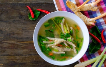 Traditional Jamaican Chicken Foot Soup